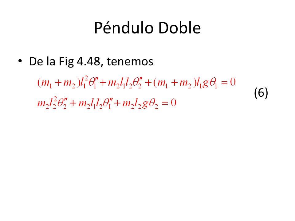 Péndulo Doble De la Fig 4.48, tenemos (6)