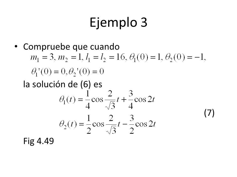 Compruebe que cuando la solución de (6) es (7) Fig 4.49 Ejemplo 3