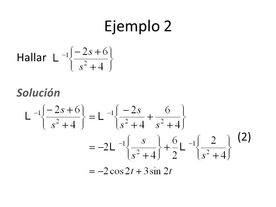 Hallar Solución (2) Ejemplo 2