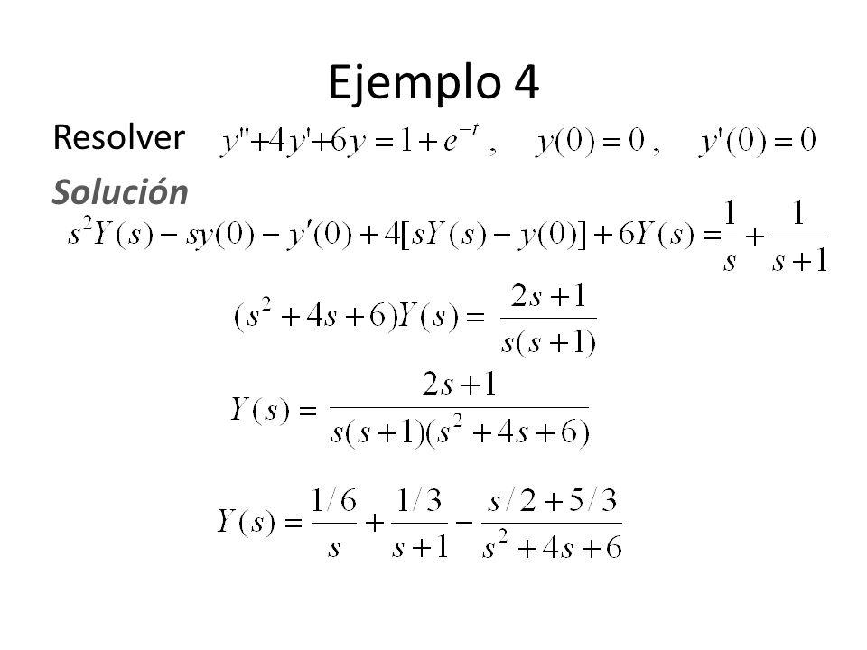 Ejemplo 4 Resolver Solución