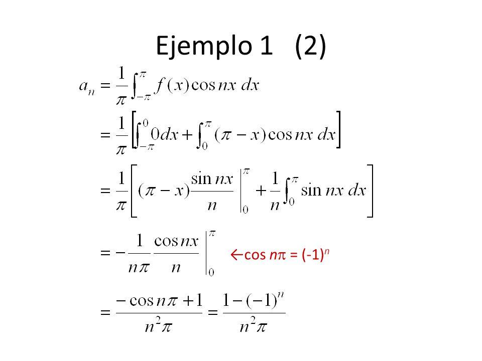 Ejemplo 1 (2) cos n = (-1) n