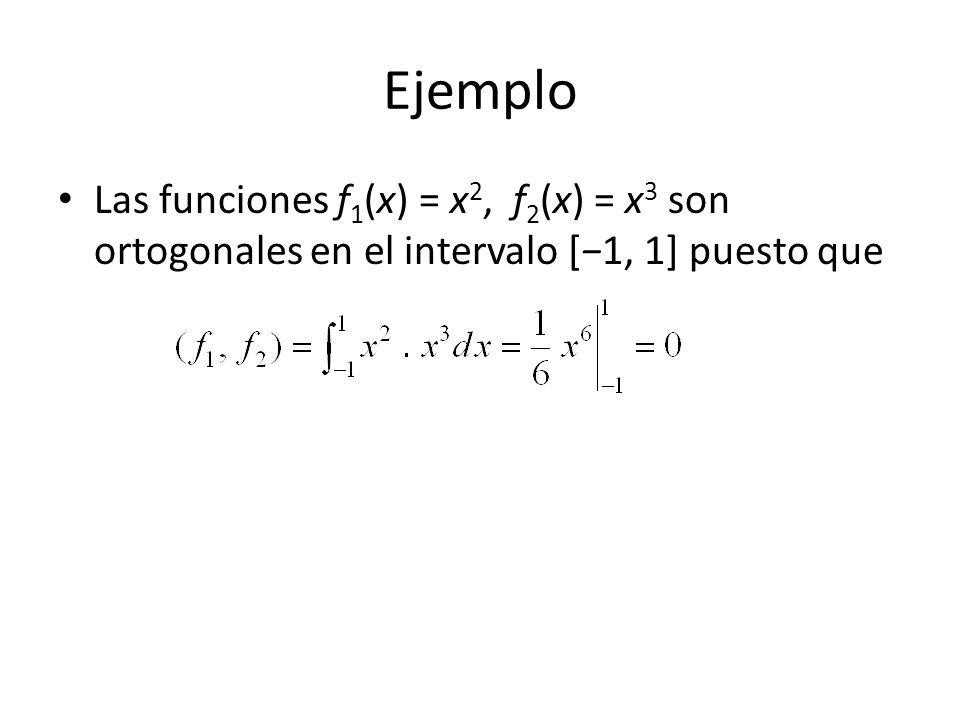 Ejemplo 3 Escriba los cuatro primeros términos no nulos del desarrollo de Fourier-Legendre de Solución De la página 269 y (22):