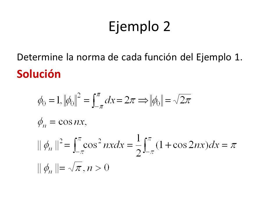Ejemplo 1 Desarrolle f(x) = x, 0 < x < 3, enn una serie de Fourier-Bessel, usando función de Bessel de orden uno que satisfacen la condición límite J 1 (3 ) = 0.