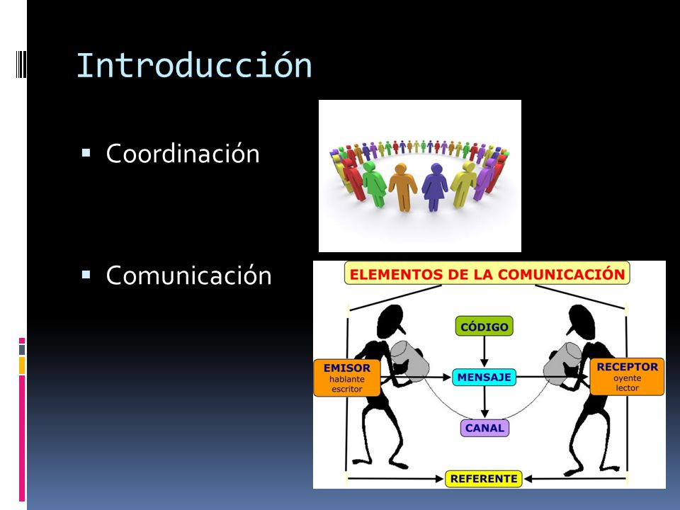 Introducción Coordinación Comunicación