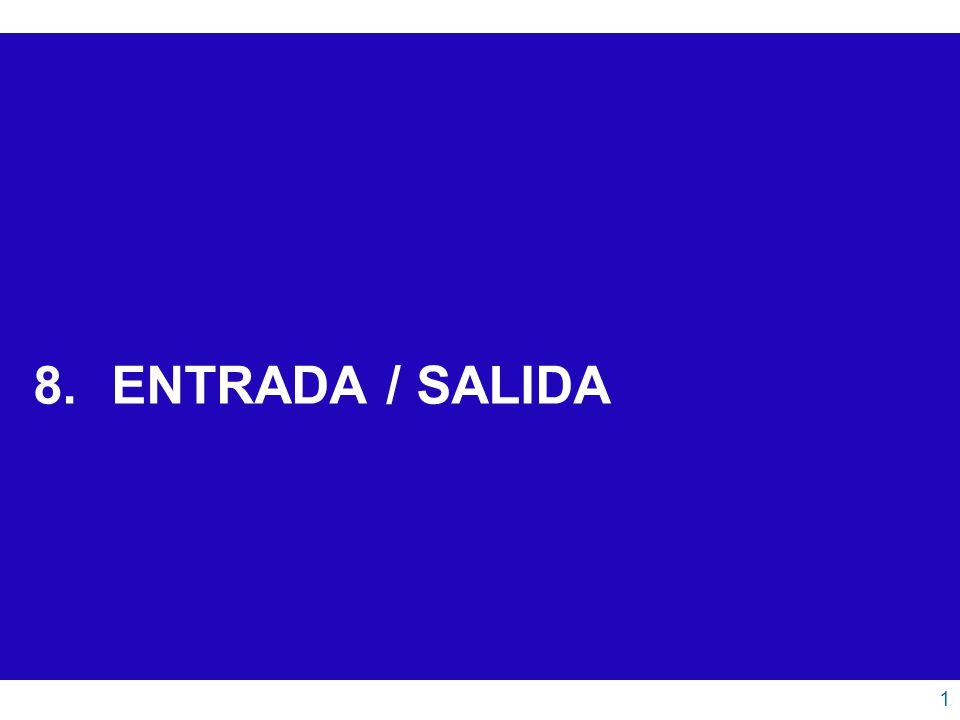 ENTRADA / SALIDA 1.Estructura General 2.Espacios de Direccionamiento 3.Métodos de Entrada / Salida 3.1.