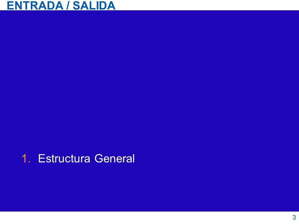 1.Estructura General ENTRADA / SALIDA 3