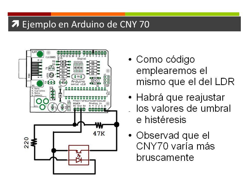 Ejemplo en Arduino de CNY 70