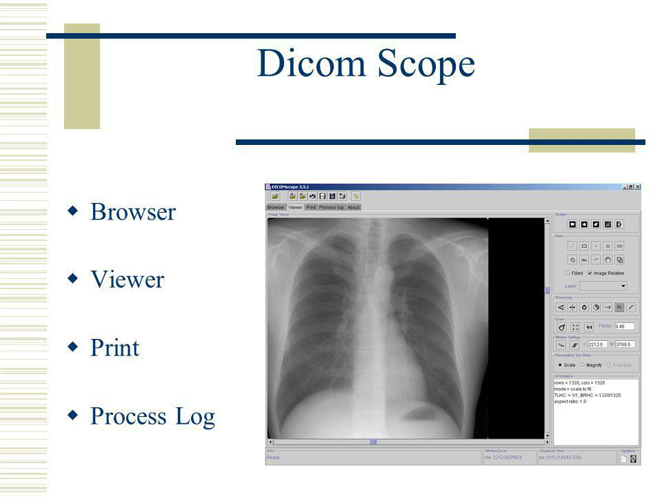 Dicom Scope Browser Viewer Print Process Log