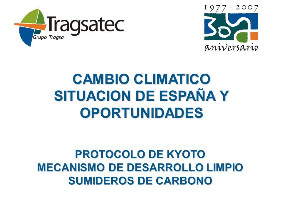 PROTOCOLO DE KYOTO MECANISMO DE DESARROLLO LIMPIO SUMIDEROS DE CARBONO
