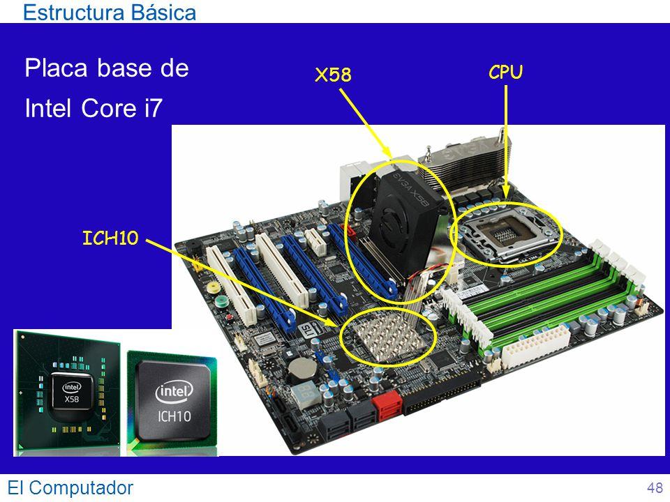 Placa base de Intel Core i7 El Computador CPU ICH10 X58 Estructura Básica 48