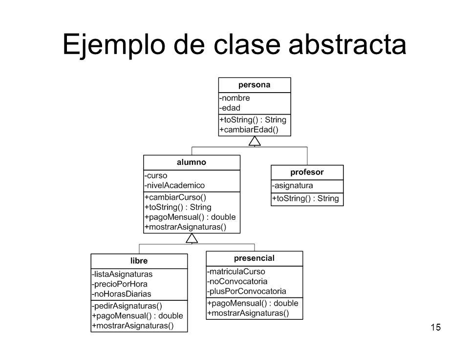 15 Ejemplo de clase abstracta