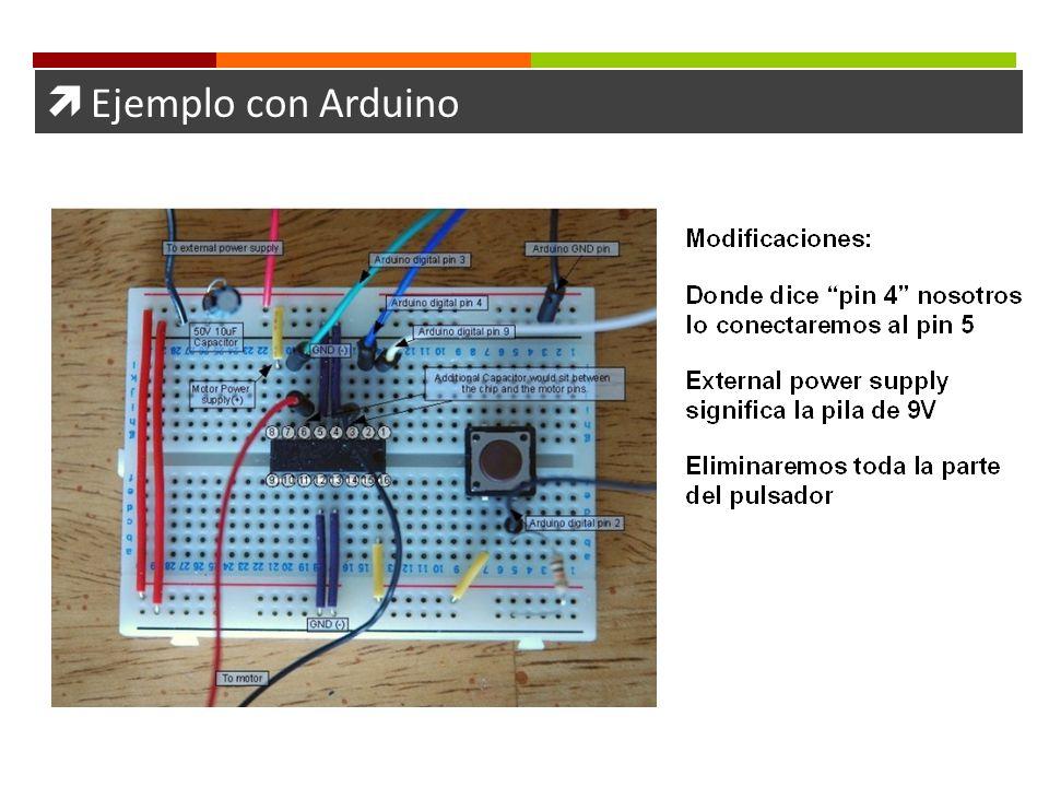 Ejemplo con Arduino