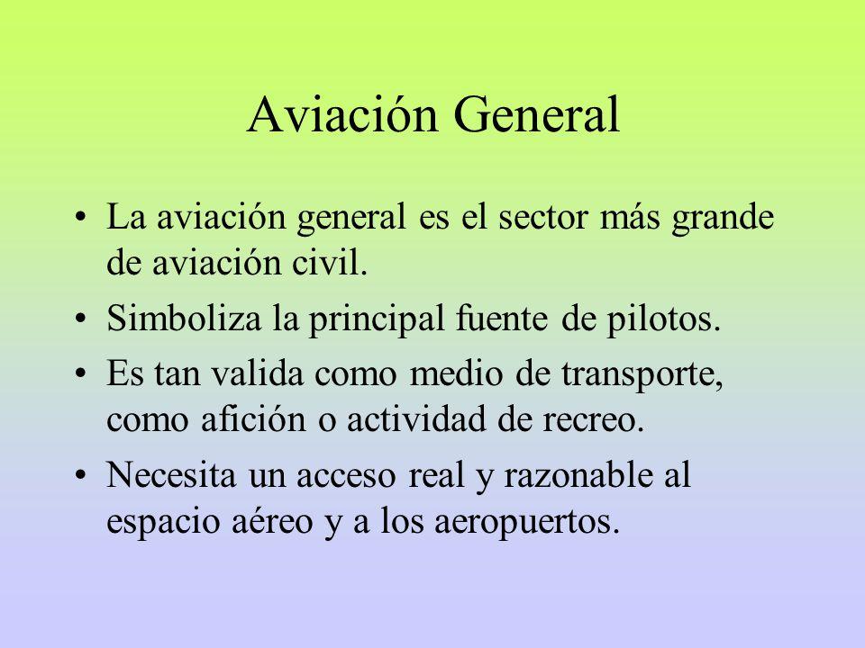 La aviación general es el sector más grande de aviación civil.