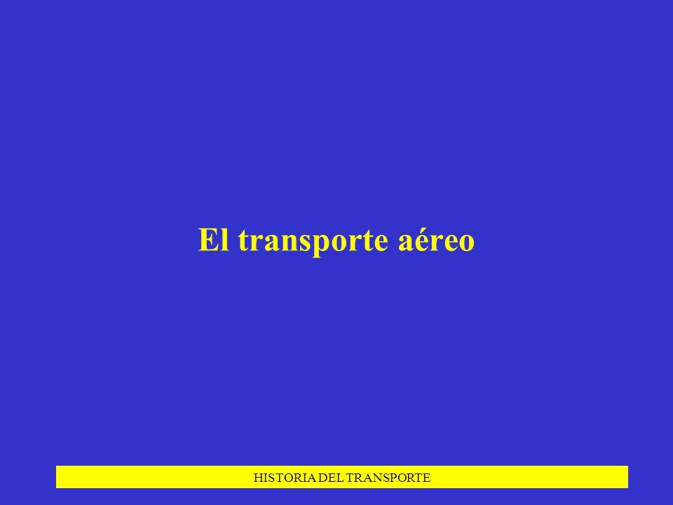 HISTORIA DEL TRANSPORTE El transporte aéreo