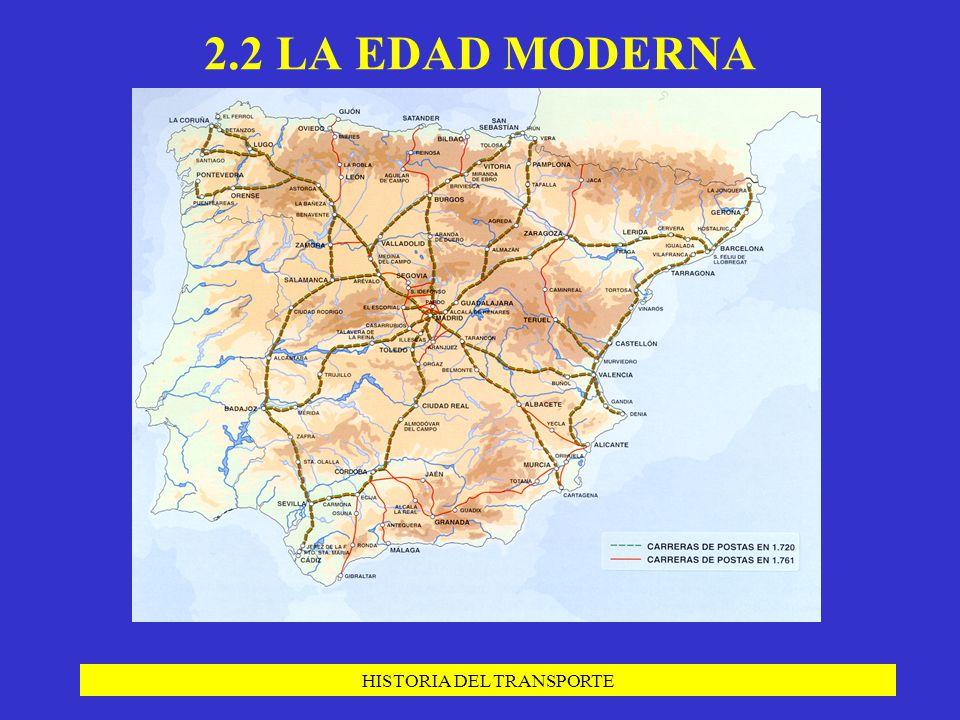 HISTORIA DEL TRANSPORTE 2.2 LA EDAD MODERNA