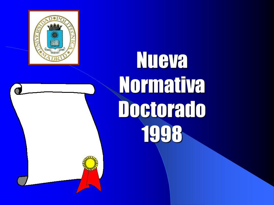 Nueva Normativa Doctorado 1998