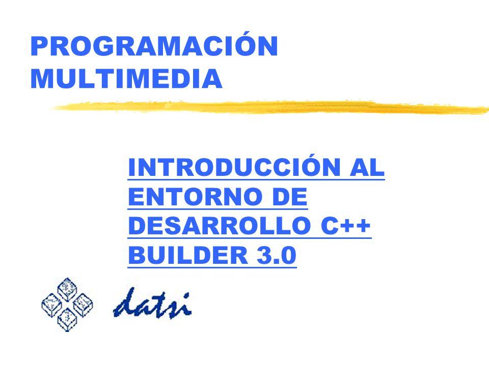 PROGRAMACIÓN MULTIMEDIA INTRODUCCIÓN AL ENTORNO DE DESARROLLO C++ BUILDER 3.0