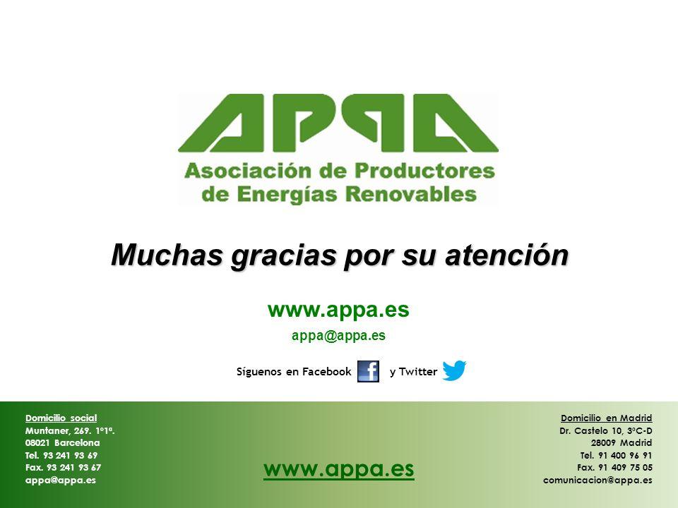 Domicilio en Madrid Dr. Castelo 10, 3ºC-D 28009 Madrid Tel. 91 400 96 91 Fax. 91 409 75 05 comunicacion@appa.es Domicilio social Muntaner, 269. 1º1ª.