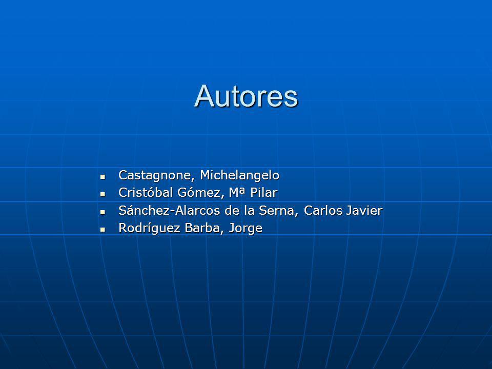 Autores Castagnone, Michelangelo Castagnone, Michelangelo Cristóbal Gómez, Mª Pilar Cristóbal Gómez, Mª Pilar Sánchez-Alarcos de la Serna, Carlos Javi