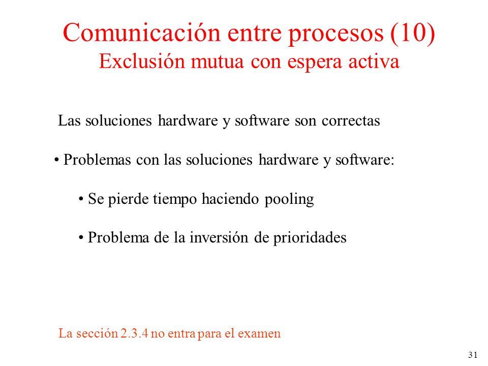 31 Las soluciones hardware y software son correctas Problemas con las soluciones hardware y software: Se pierde tiempo haciendo pooling Problema de la