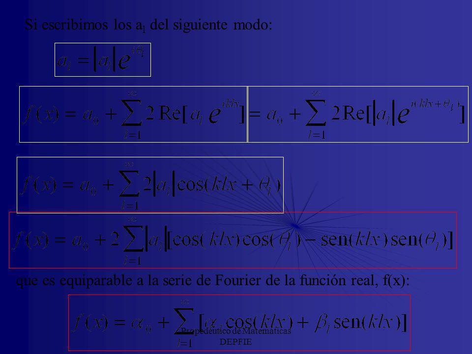 Propedéutico de Matemáticas DEPFIE Vamos a utilizar lo anterior para ver cómo podemos, para el caso de una función real, encontrar la relación entre l