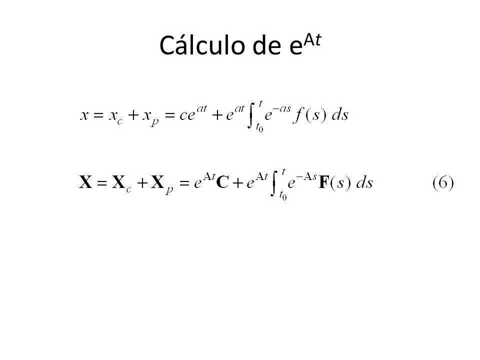 Cálculo de e At