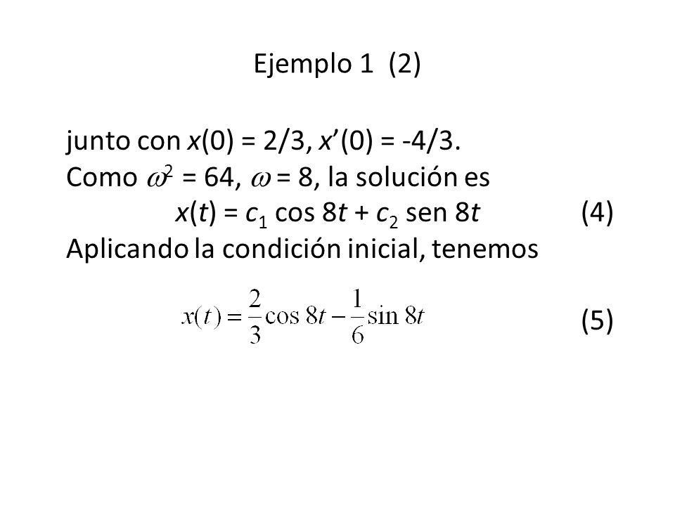 junto con x(0) = 2/3, x(0) = -4/3.