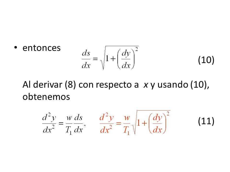 entonces (10) Al derivar (8) con respecto a x y usando (10), obtenemos (11)