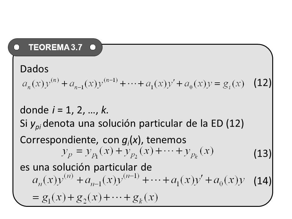 Dados (12) donde i = 1, 2, …, k.