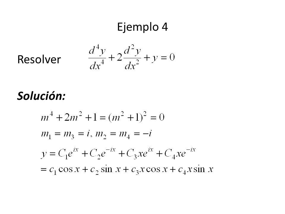 Resolver Solución: Ejemplo 4