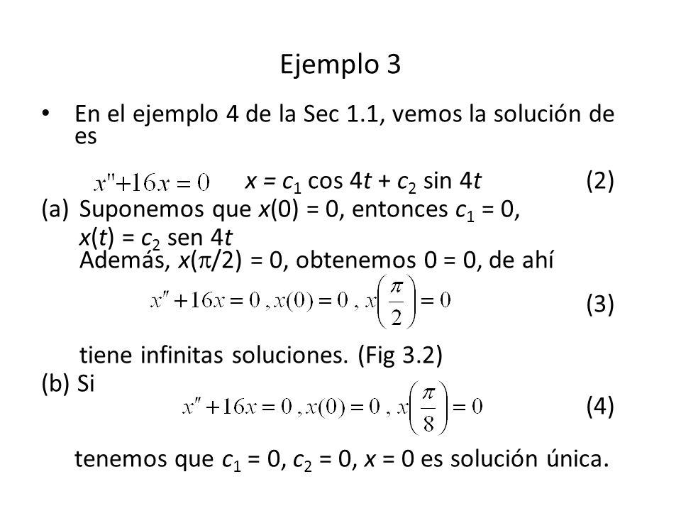 Como x(0) = 0, x(0) = 0, entonces Así (30) Ejemplo 8 (2)