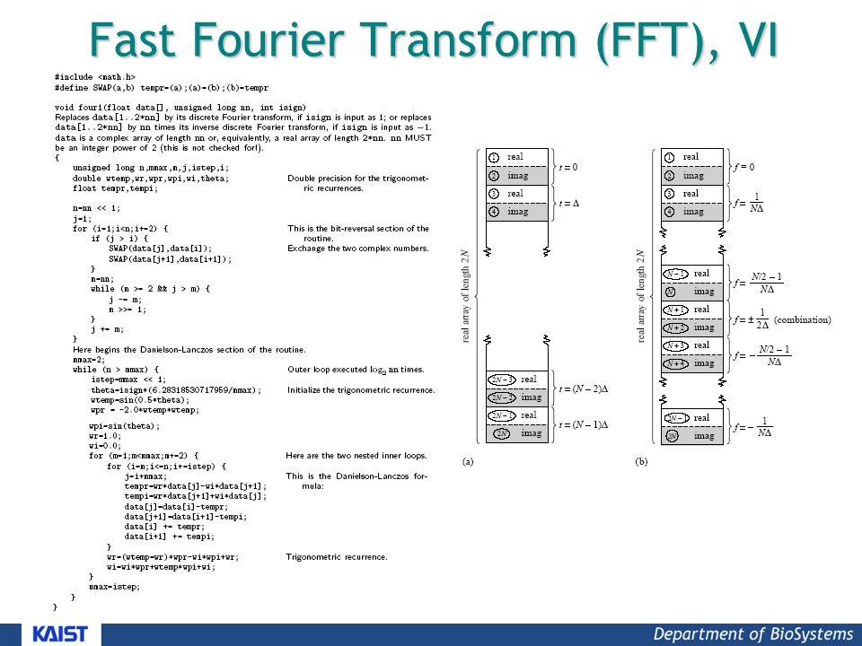 Fast Fourier Transform (FFT), VI