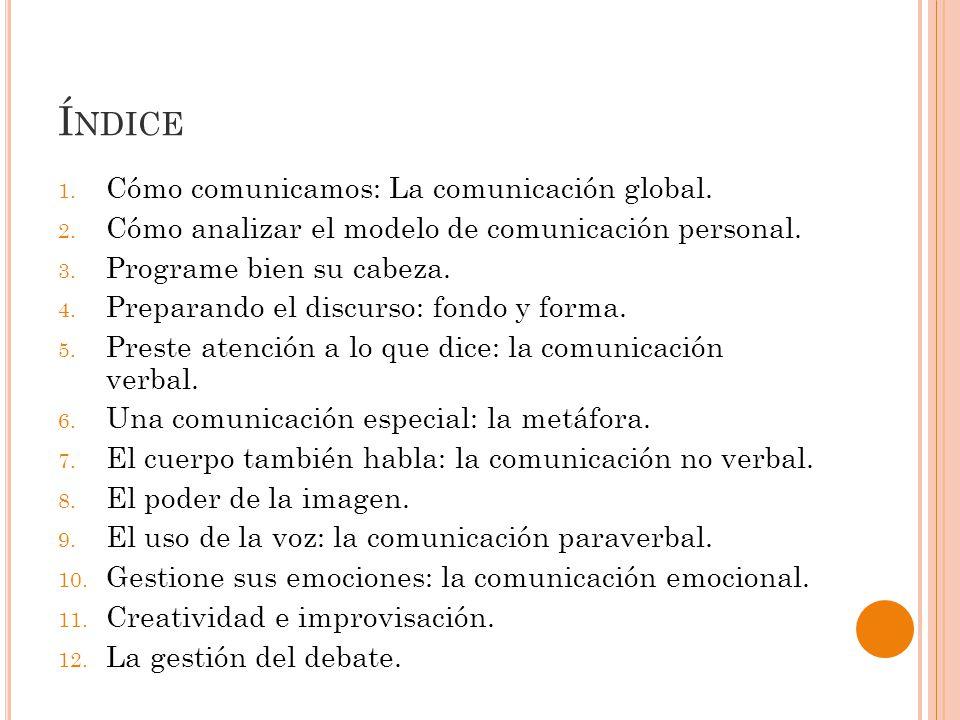 Í NDICE 1.Cómo comunicamos: La comunicación global.