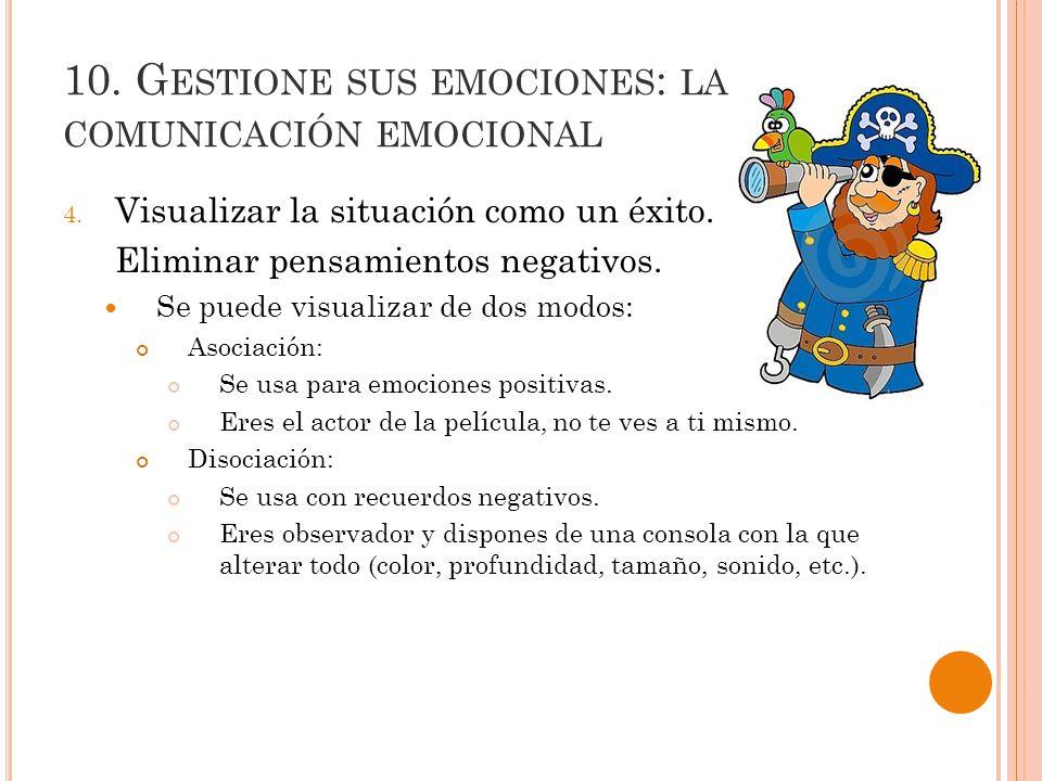 10.G ESTIONE SUS EMOCIONES : LA COMUNICACIÓN EMOCIONAL 4.