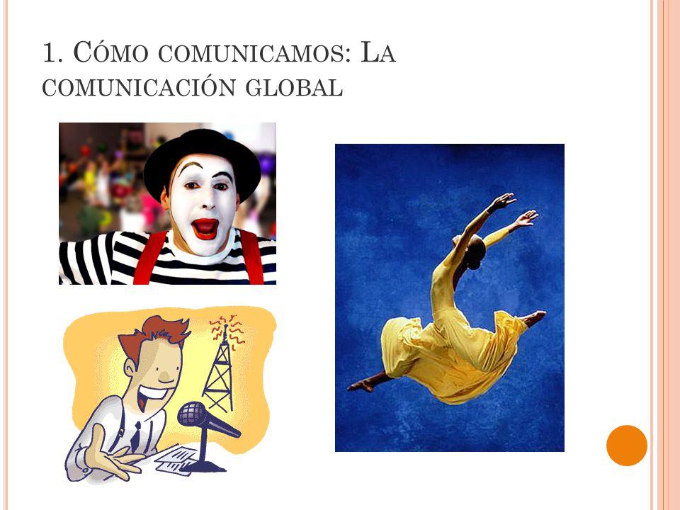 1. C ÓMO COMUNICAMOS : L A COMUNICACIÓN GLOBAL