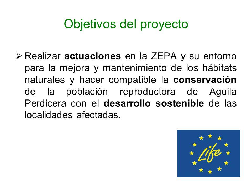 Objetivos del proyecto Realizar actuaciones en la ZEPA y su entorno para la mejora y mantenimiento de los hábitats naturales y hacer compatible la con
