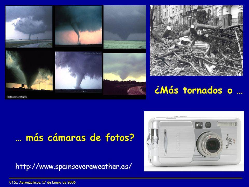 ETSI Aeronáuticos; 17 de Enero de 2006 ¿Más tornados o … … más cámaras de fotos? http://www.spainsevereweather.es/