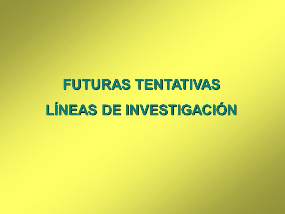 FUTURAS TENTATIVAS LÍNEAS DE INVESTIGACIÓN