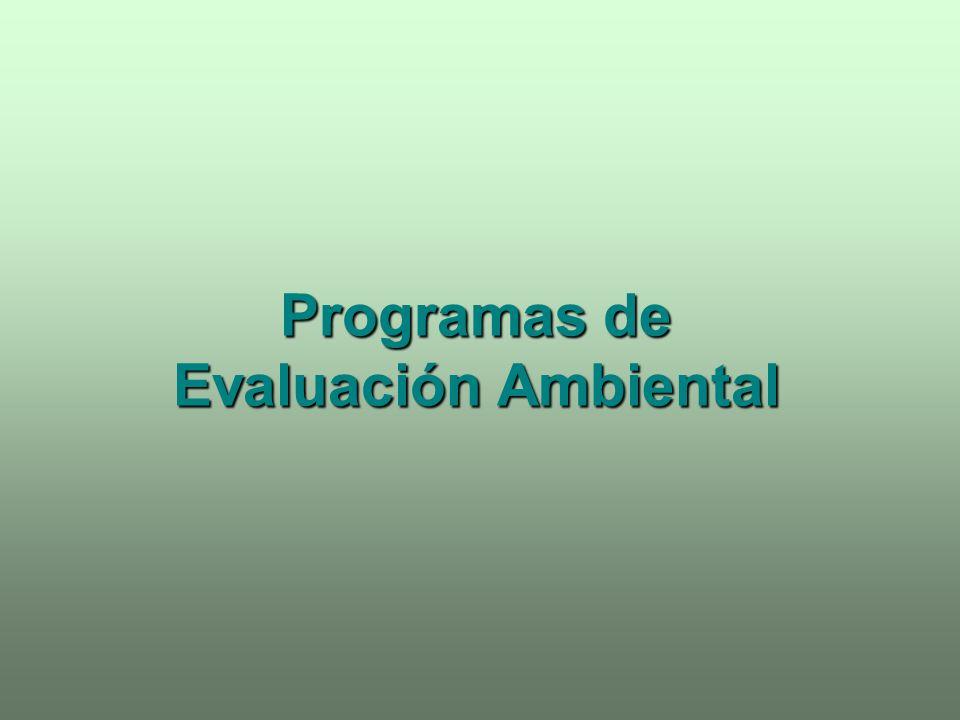 Programas de Evaluación Ambiental