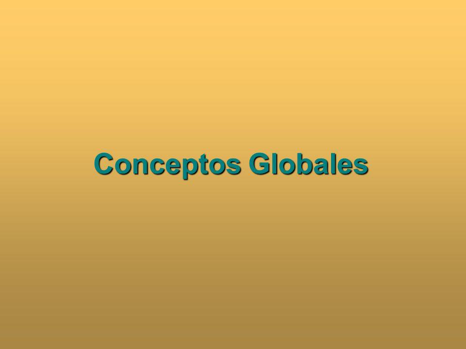 Problemas Globalidad/Globalización/Globalismo Desarrollo Sostenible Suficiencia CONCEPTOS GLOBLALES