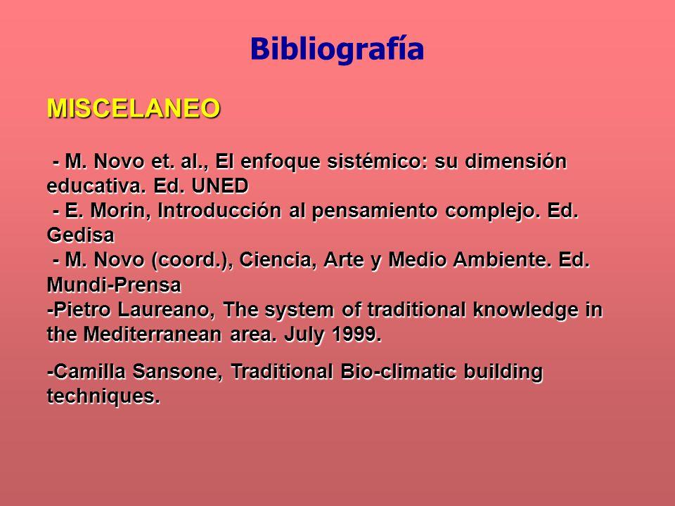 MISCELANEO - M. Novo et. al., El enfoque sistémico: su dimensión educativa. Ed. UNED - M. Novo et. al., El enfoque sistémico: su dimensión educativa.