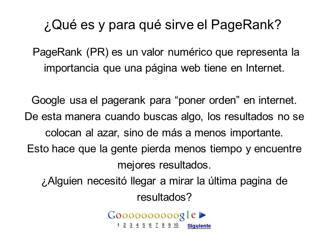 ¿Qué es y para qué sirve el PageRank.