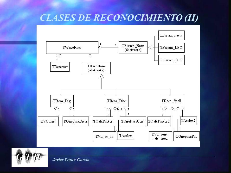 Javier López García CLASES DE RECONOCIMIENTO (II)