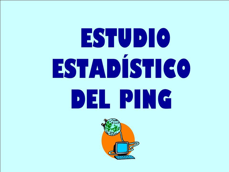 ESTUDIO ESTADÍSTICO DEL PING