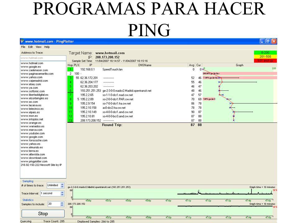 PROGRAMAS PARA HACER PING