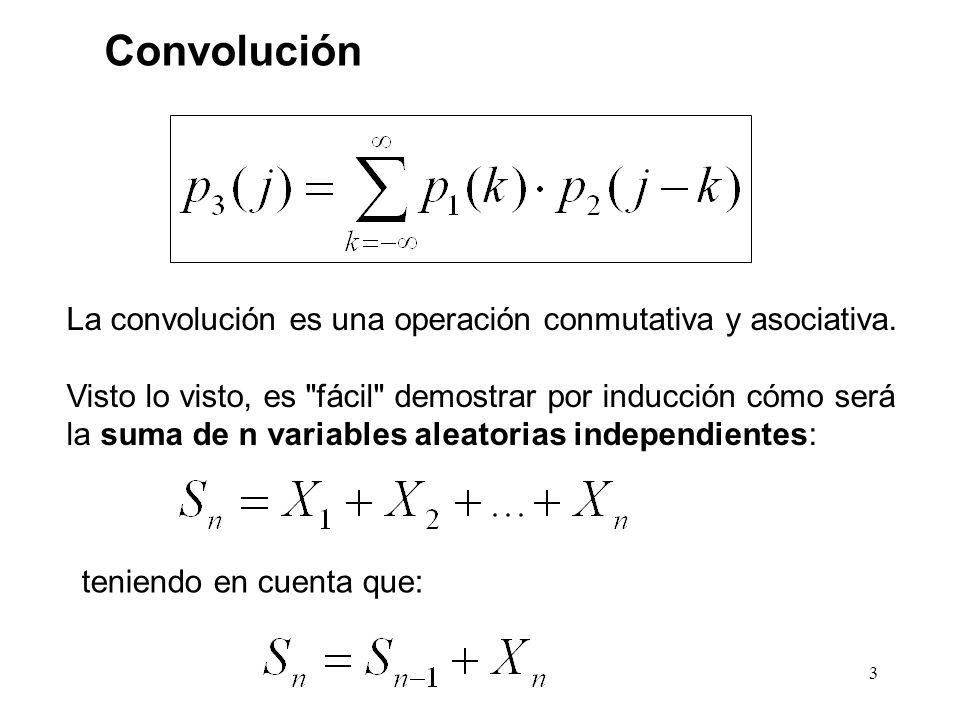 3 Convolución La convolución es una operación conmutativa y asociativa.