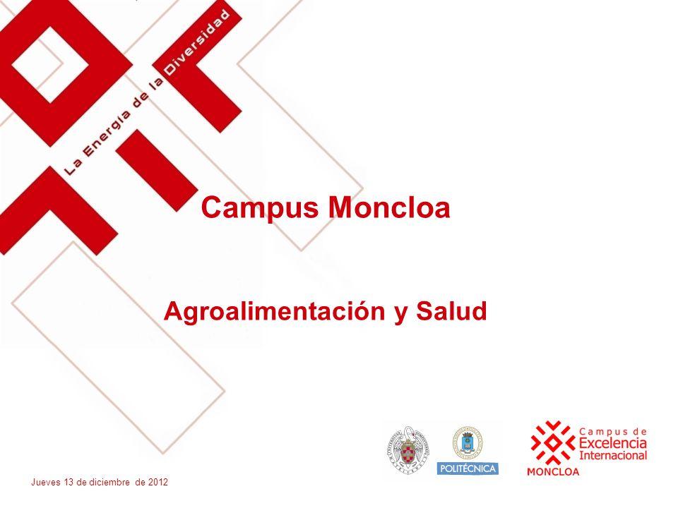 Campus Moncloa Agroalimentación y Salud Jueves 13 de diciembre de 2012