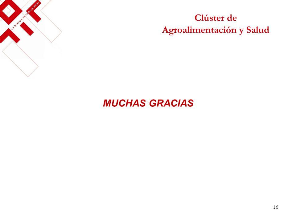 Clúster de Agroalimentación y Salud MUCHAS GRACIAS 16