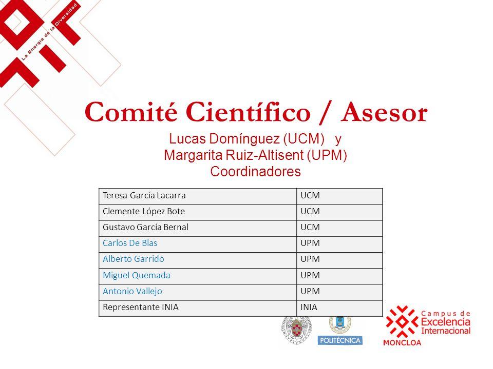 Comité Científico / Asesor Lucas Domínguez (UCM) y Margarita Ruiz-Altisent (UPM) Coordinadores Teresa García LacarraUCM Clemente López BoteUCM Gustavo