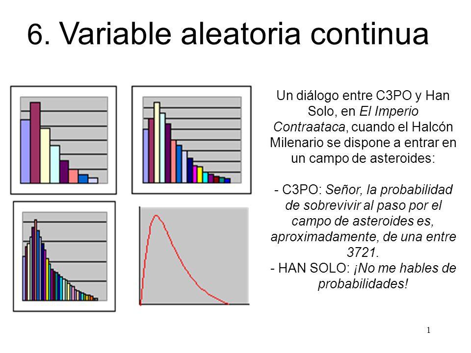 Variable aleatoria continua versus discreta.
